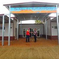 Shire of Yalgoo CEO Silvio Brenzi welcomes Arts Centre Coordinator Emmaline James