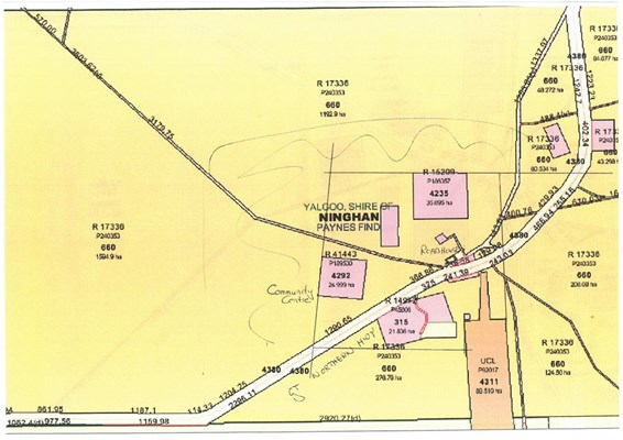 Yalgoo Maps - Paynes Find map