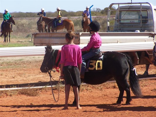Yalgoo Annual Gymkhana - Riding action